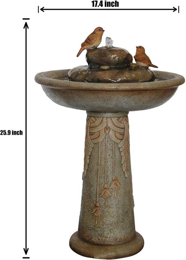 Birds Flower Water Fountain