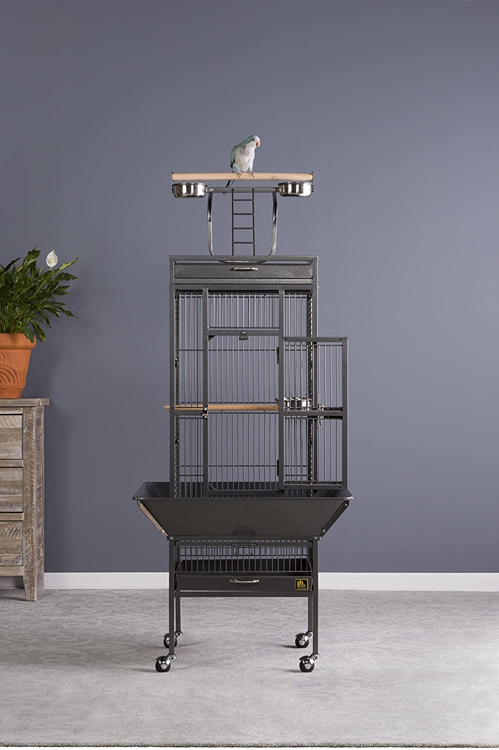 Prevue Pet Products Wrought Iron Select Bird Cage Black Hammertone