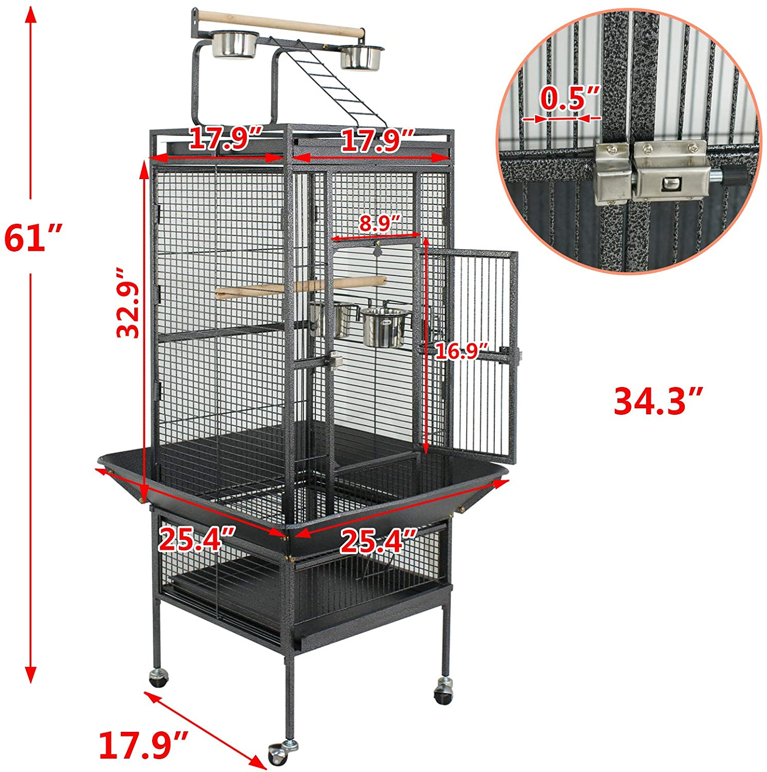 """Super Deal 53""""/61""""/68"""" Extra Large Bird Cage"""