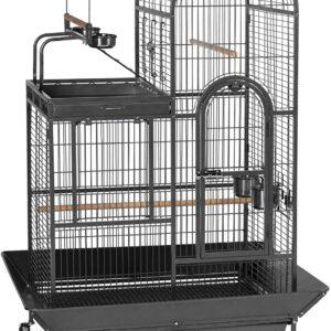 cage à oiseaux à double toit